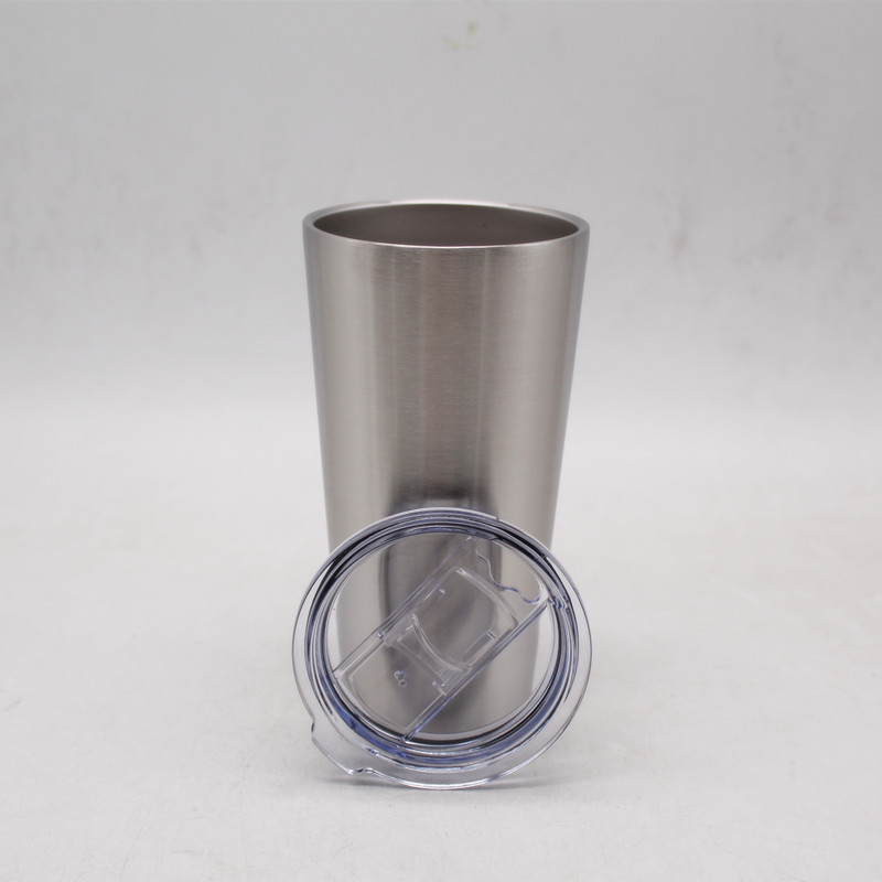 16oz double wall stainless steel Vacuum tumbler insulated bottle with straw lid