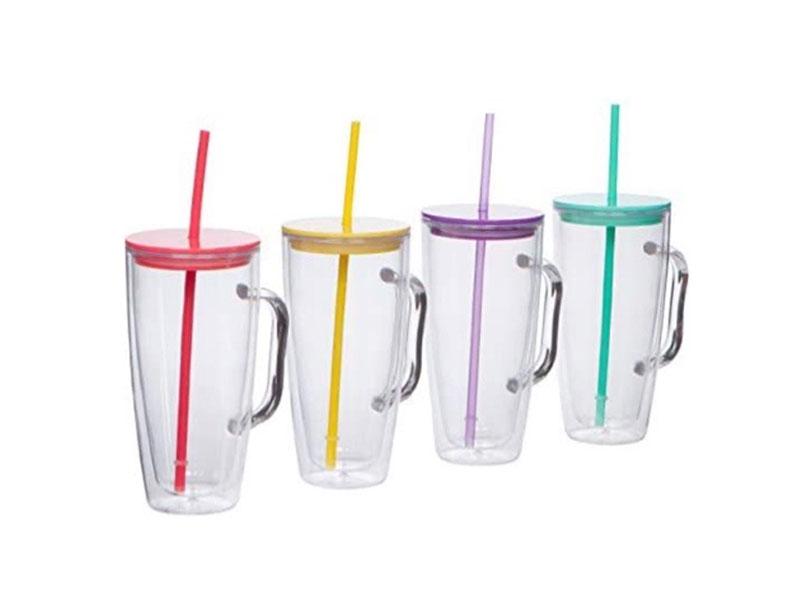 24oz Straw Mug with Handle