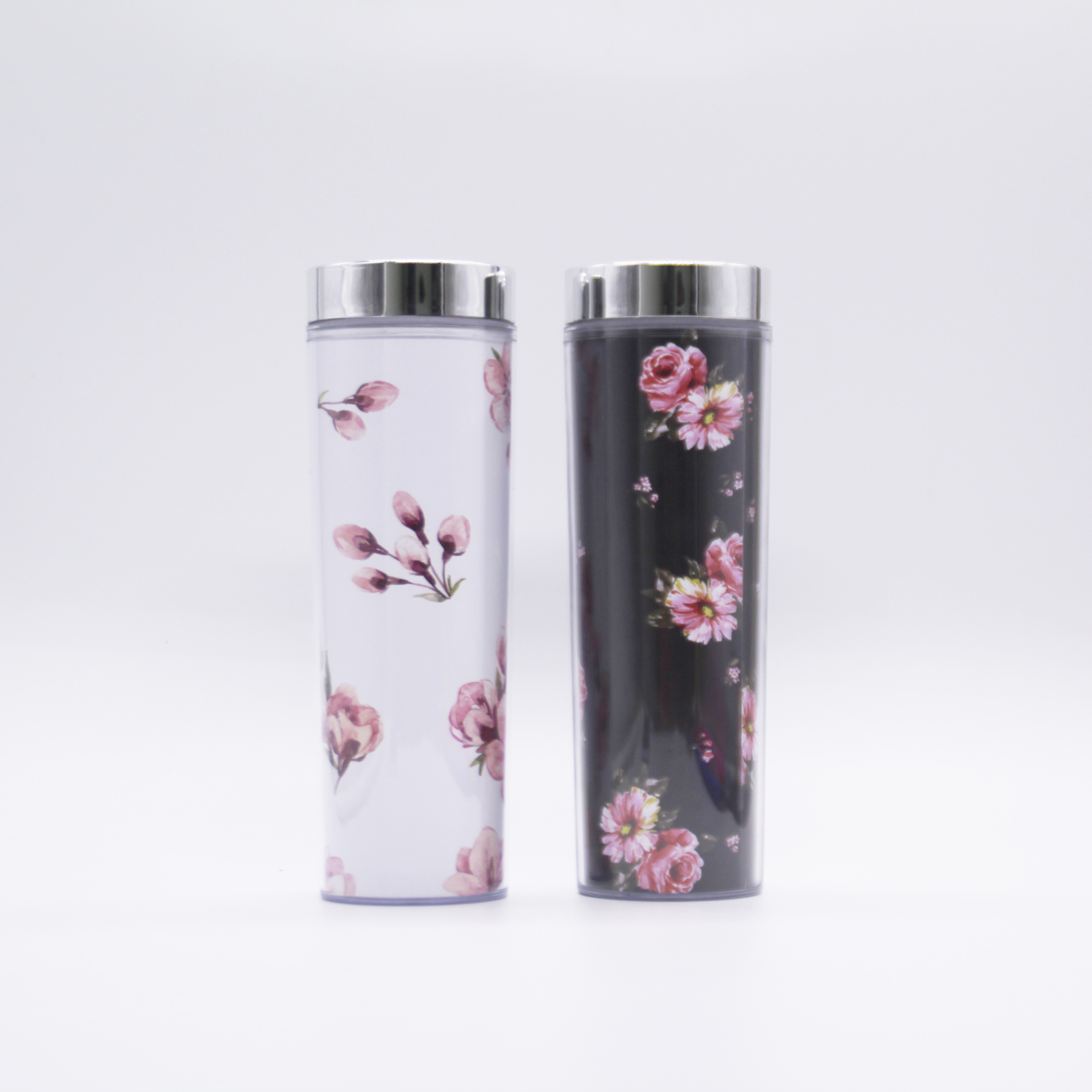 16oz Double Wall Clear Acrylic Skinny Tumbler With DIY paper Insert