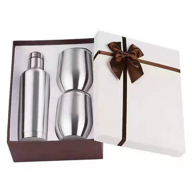 gift sets 12oz stemless wine tumbler wine bottle insulated wine bottle