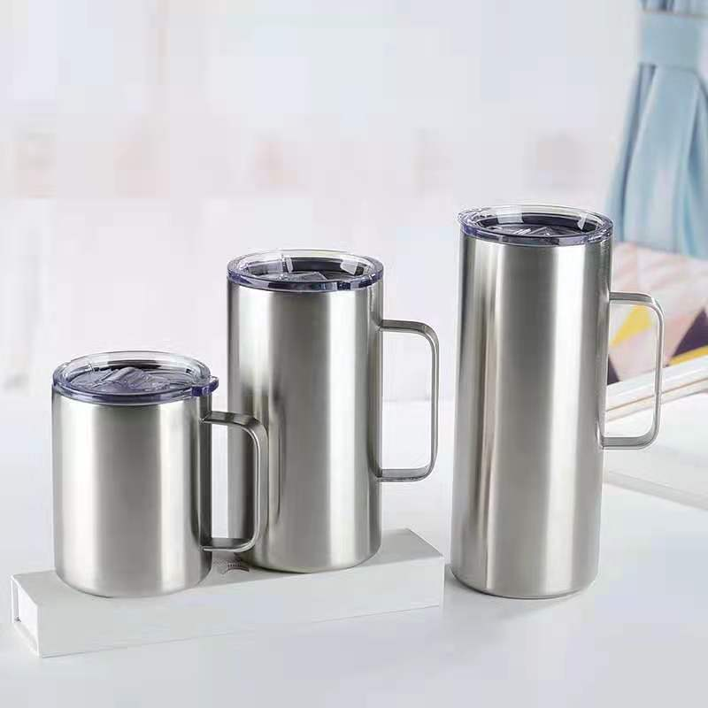 14oz 24oz sublimation insulated coffee mug camping mug,stainless steel custom coffee travel mug with logo