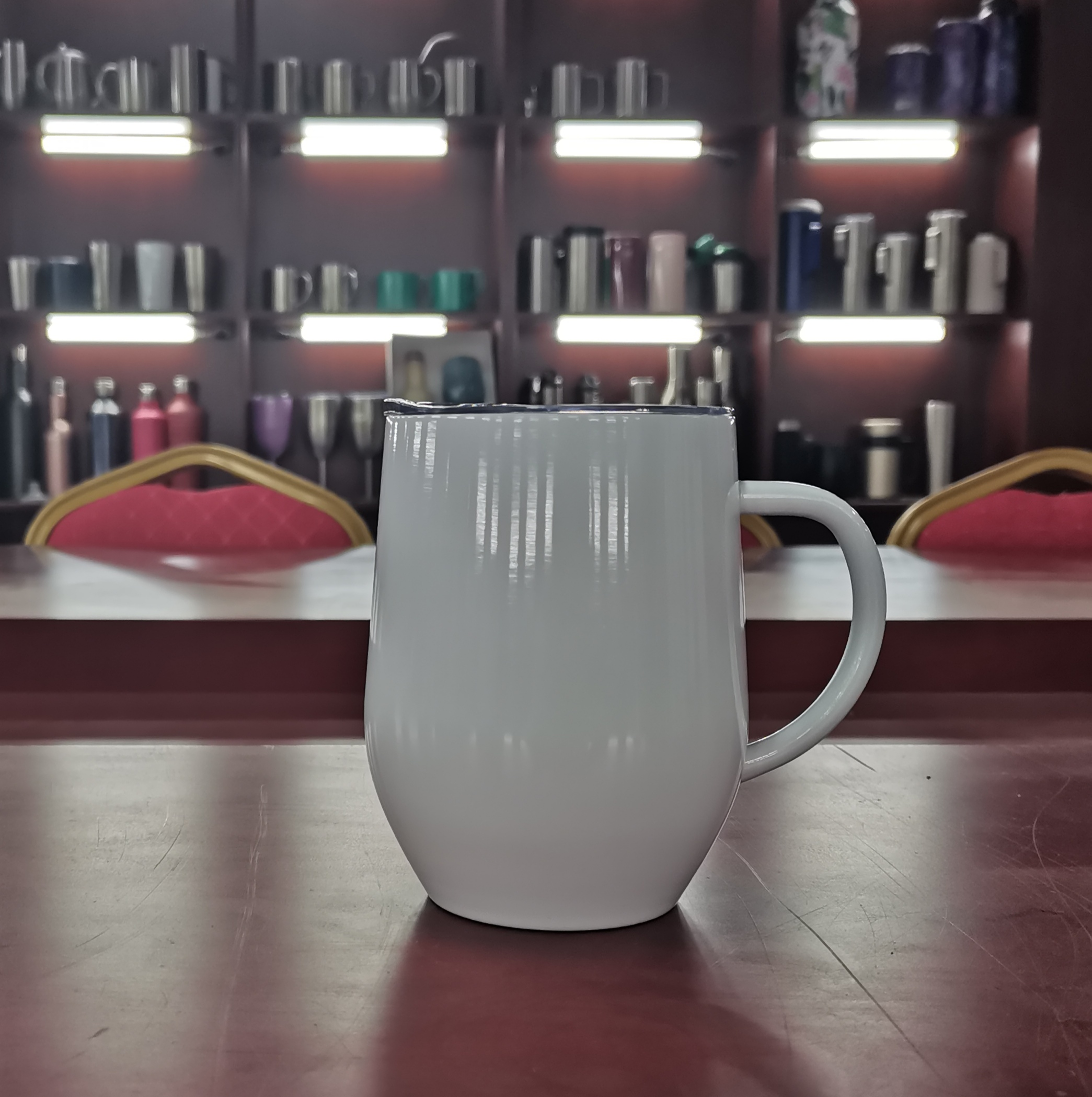 Stainless Steel Wine Cup tumbler stainless steel insulated With Handle