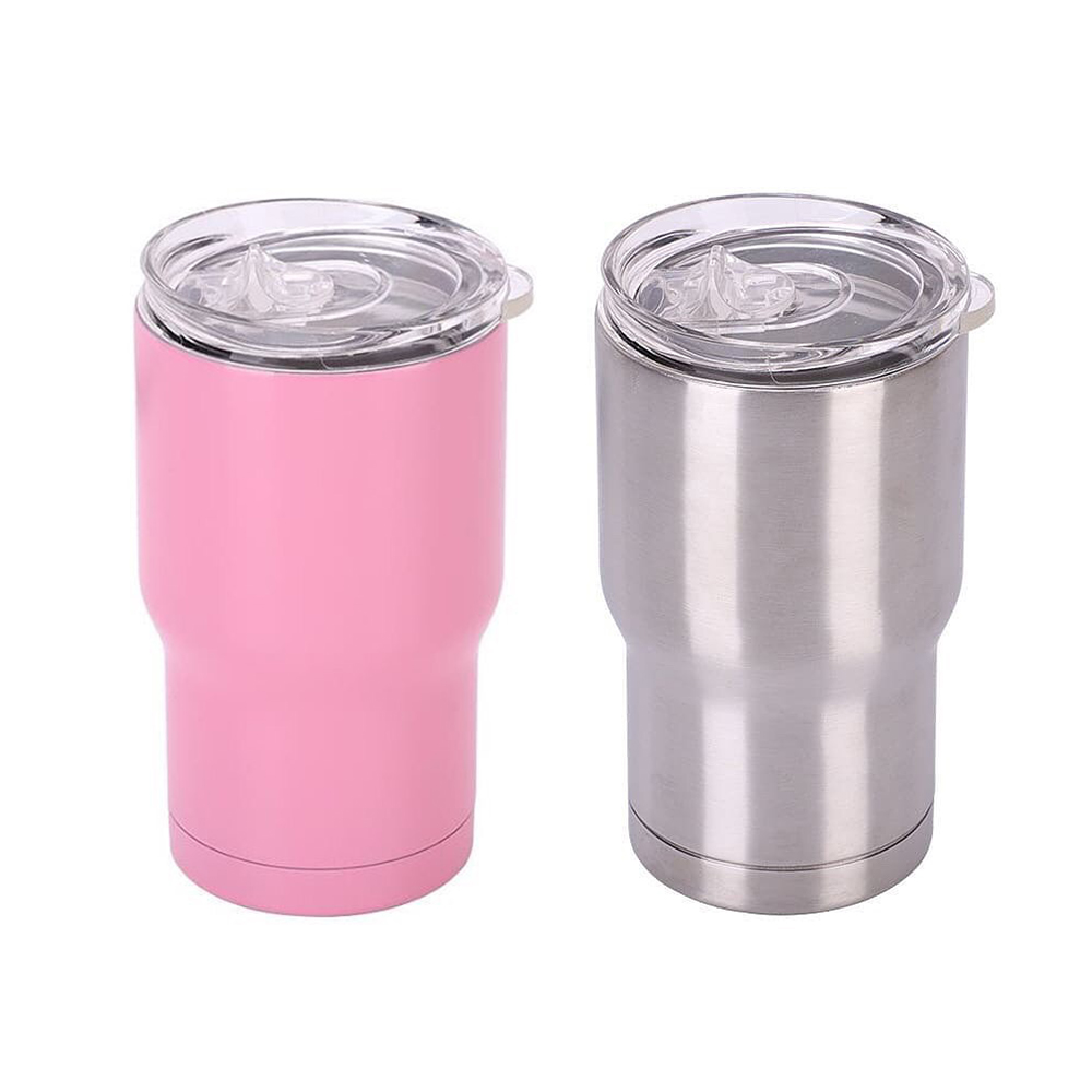 14oz Coldee Stainless Steel Tumbler, Marine with Easy Grip Finish – Small Insulated Cup With Straw