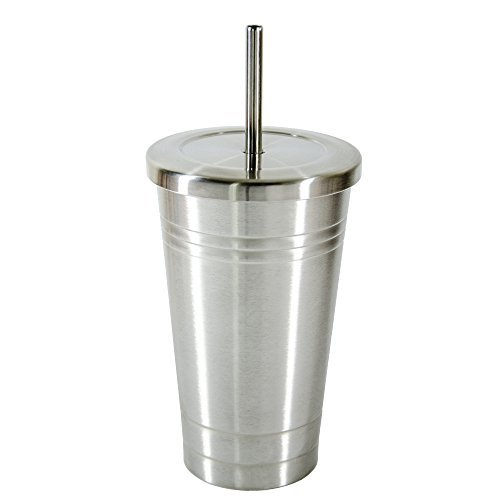 Insulated stainless steel tumbler 16oz Double Wall Tumbler with Straw