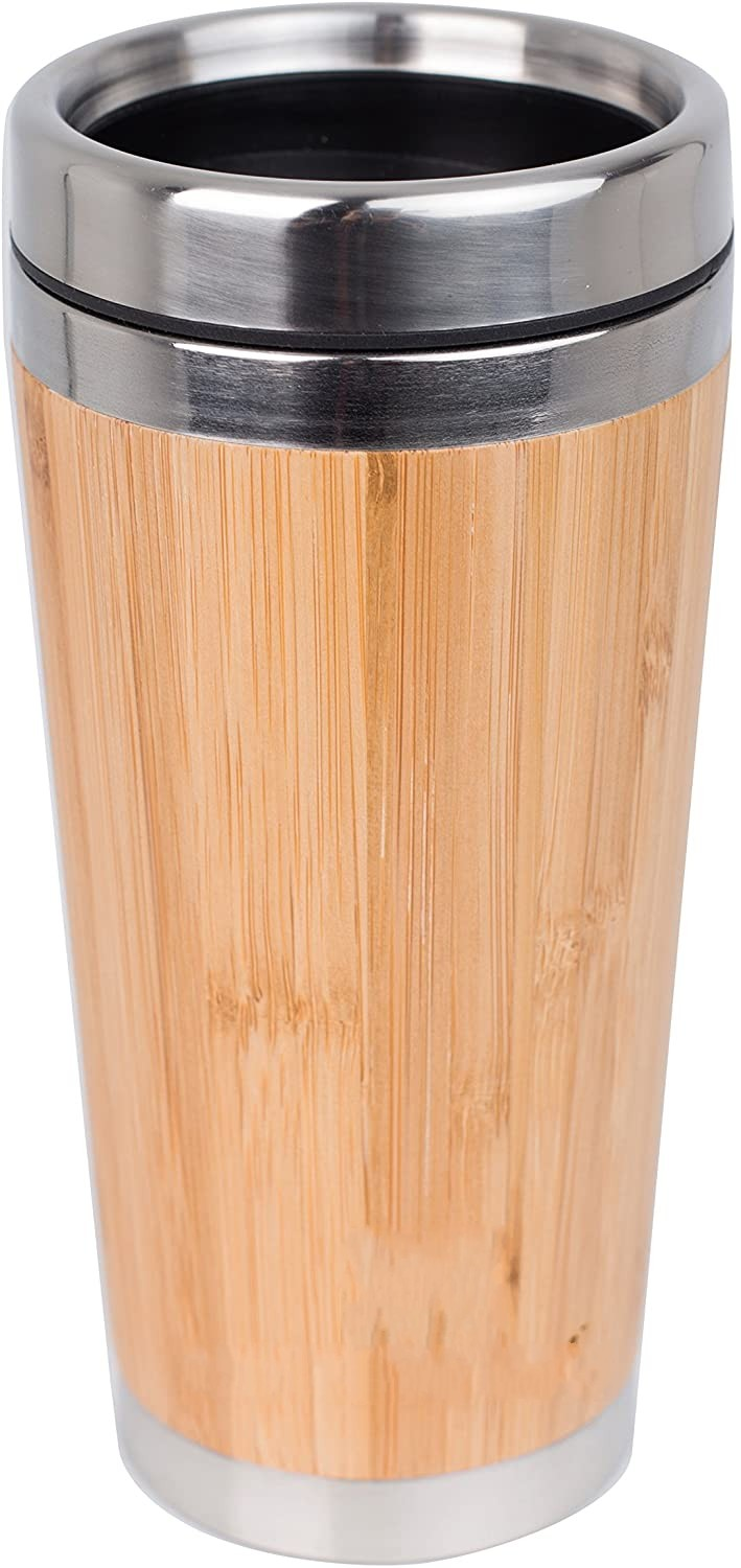 Original Bamboo Stainless Steel Bottle Coffee Mug Insulated Bamboo Travel Tumbler Eco-friendly Tea Cup flask 16oz
