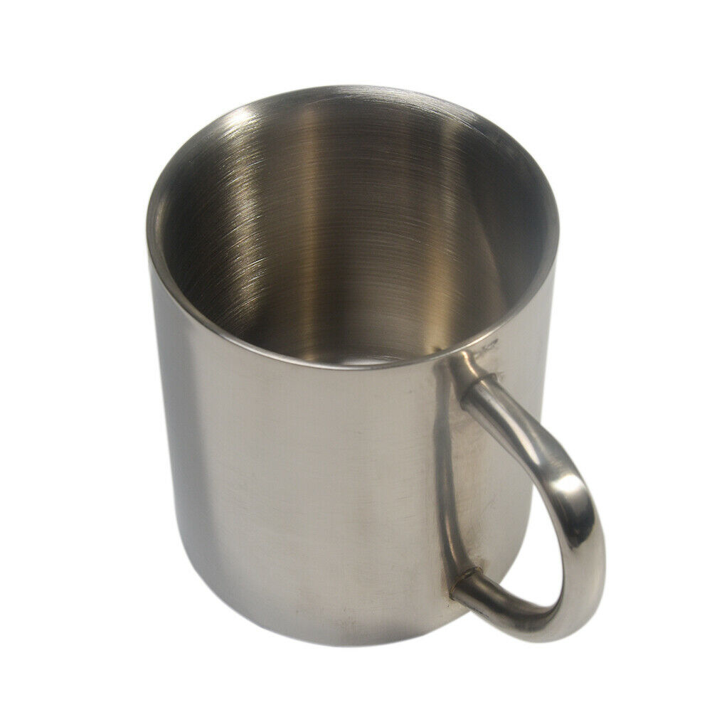 300ml stainless steel Camp Cup Stainless Steel Coffee Mug with handle Double Wall Vacuum Insulated beer cup