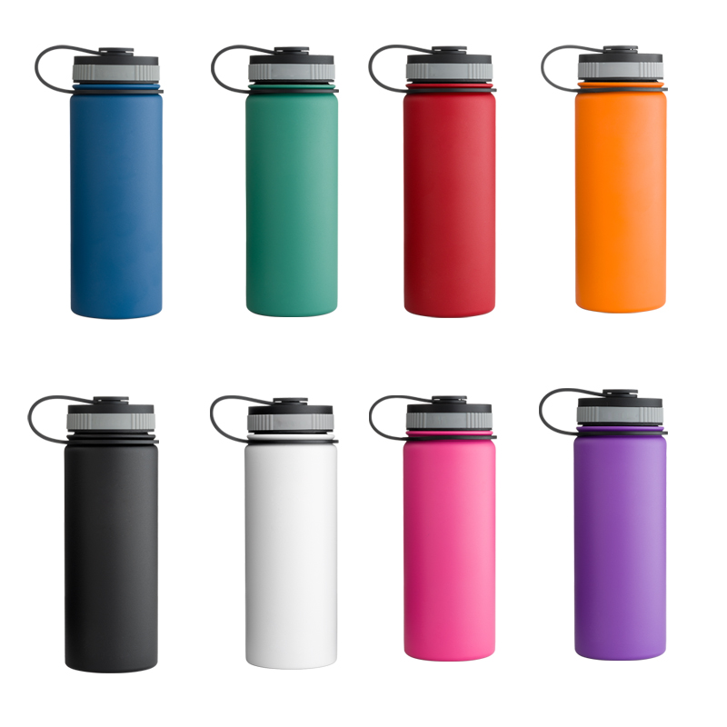 32oz Leak Proof Sports Water Bottle ,Stainless Steel Wide Mouth insulated Water Bottle , 304 Double wall vacuum flask with Lid