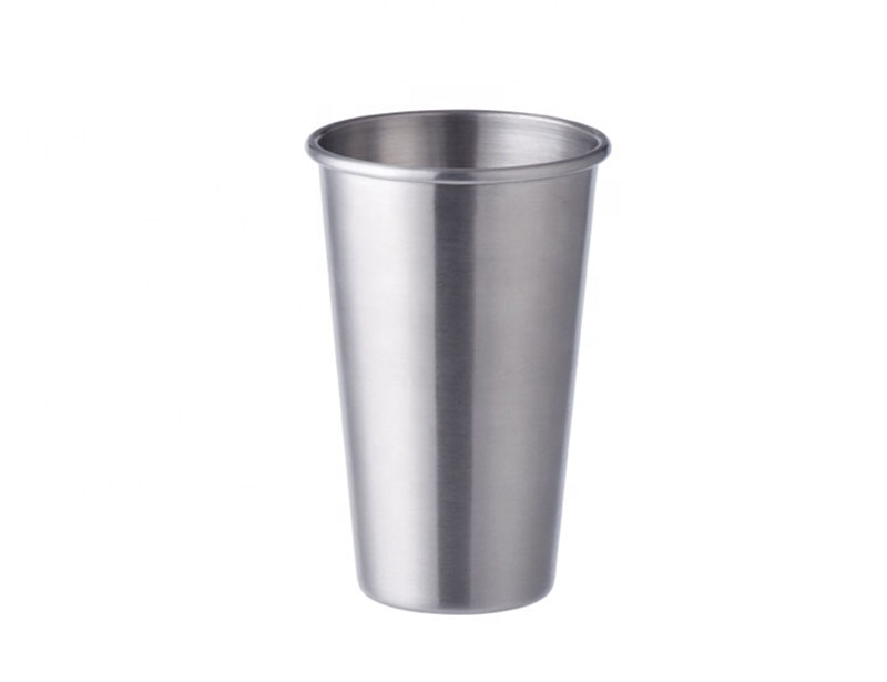 16 oz Metal Pint Cup Tumbler Collapsible Single Wall Beer Drinking Cups