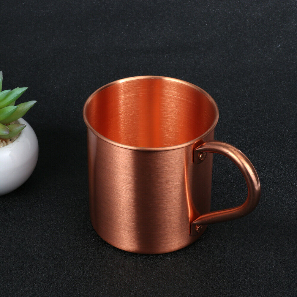 Moscow Mule Mug Travel Coffee Cup with Handle Stainless Steel ,stainless Steel Copper Plated Beer Cup,copper Mugs Personality