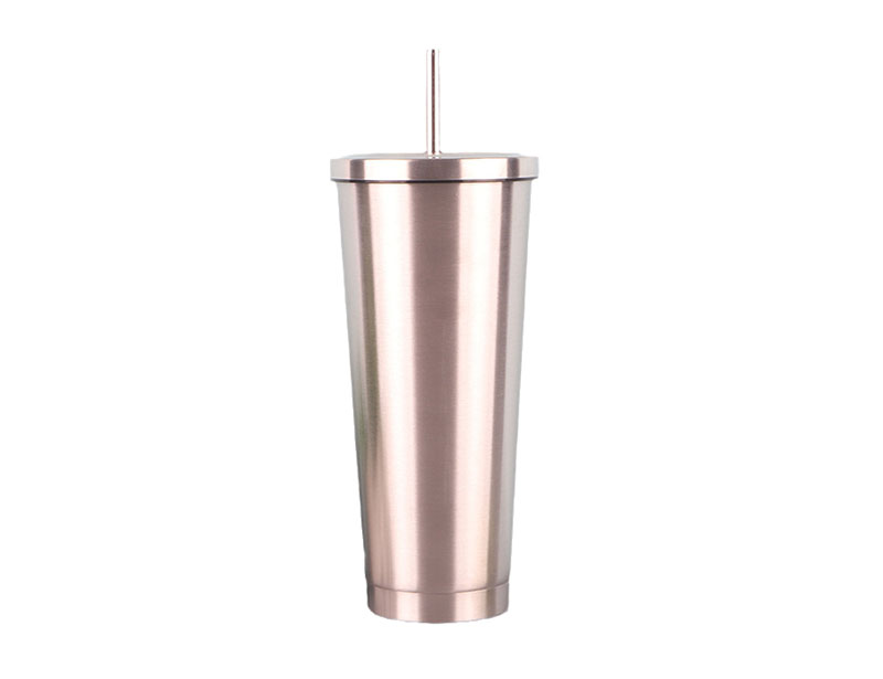 Custom Vacuum Sealed Double Wall Coffee Cup Stainless Steel Vacuum Insulated Tumbler with Lid & Straw