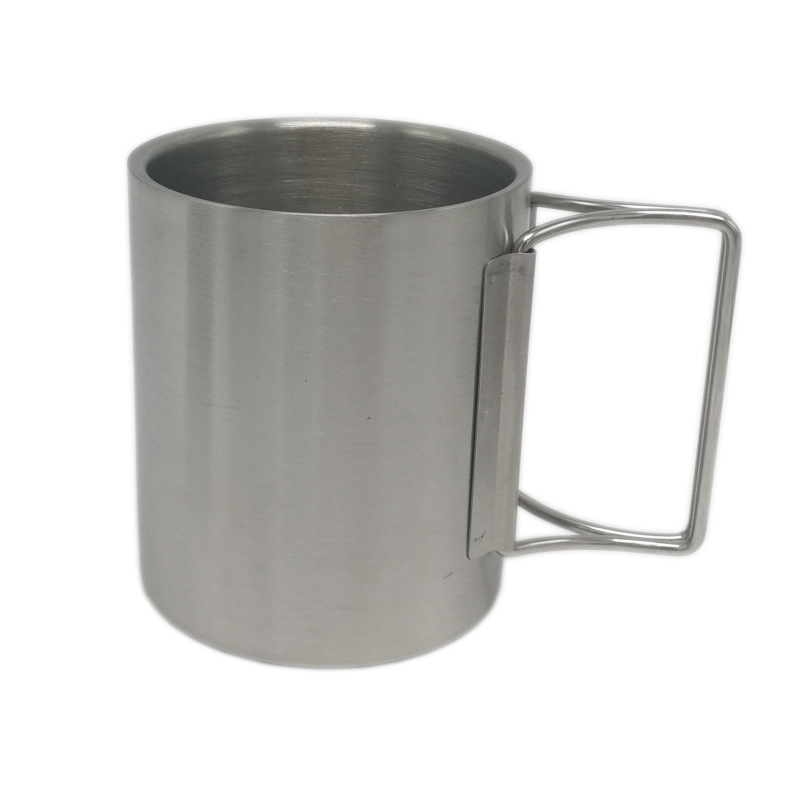 11oz 12oz 300ml 350ml outdoor water coffee beer Camping double walled stainless steel mug for Travel Hiking