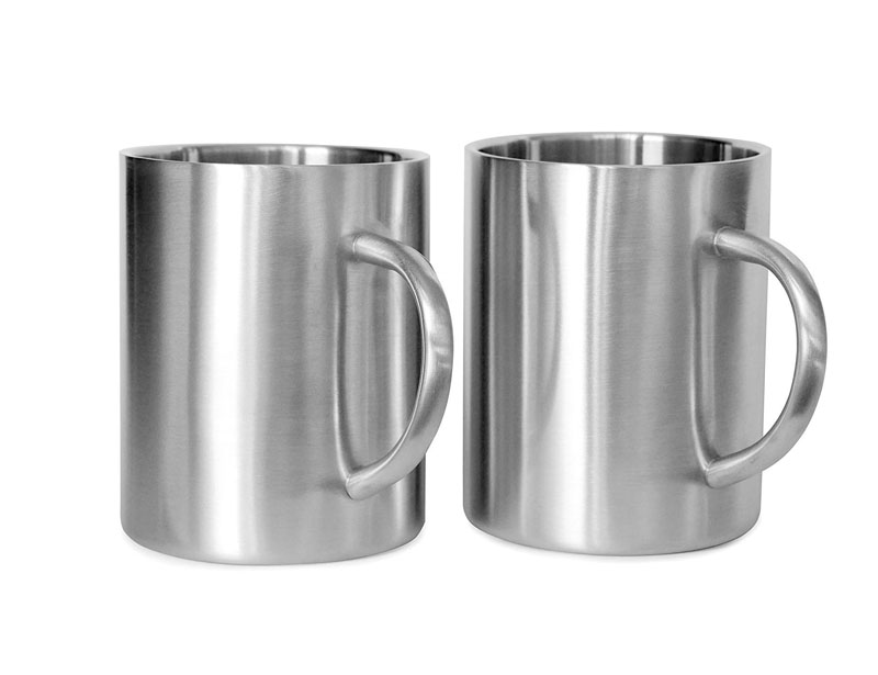 Stainless Steel Double Walled Mugs: 100% BPA Free,15 oz Metal Coffee & Tea Cup Mug - Insulated Cups with Handles Keep Drinks Hot or Cold Longer - Durable for Camping