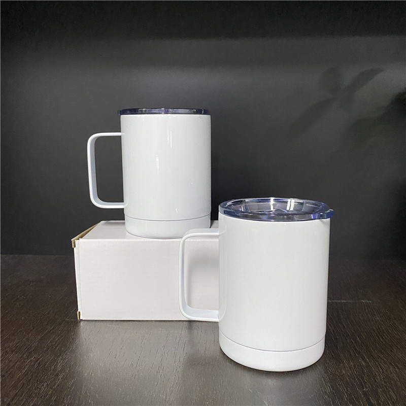 Hot sale white blanks sublimation double walled 12oz coffee tumbler Stainless Steel Insulated drink mug for Coffee and tea