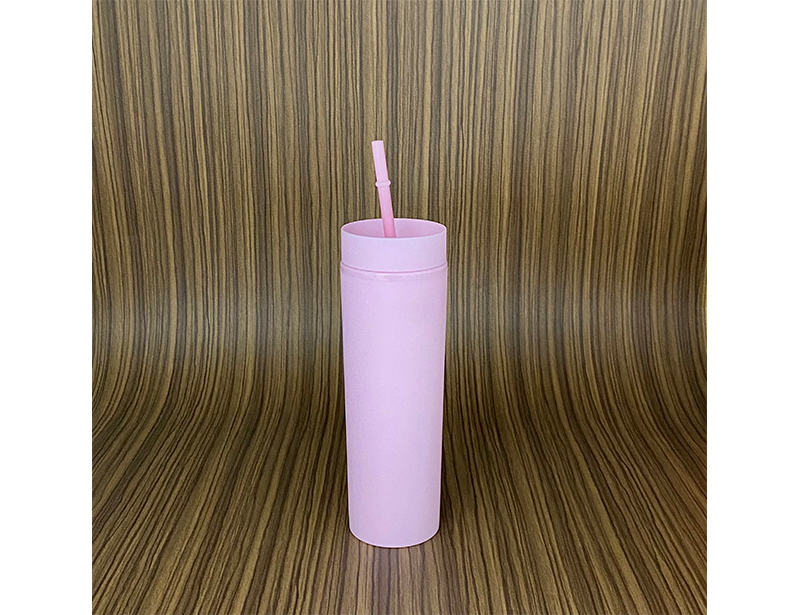 Personalized SKINNY TUMBLERS Matte Pastel Colored Acrylic Tumblers 16oz Double Wall Plastic Tumblers With Straw travel mug