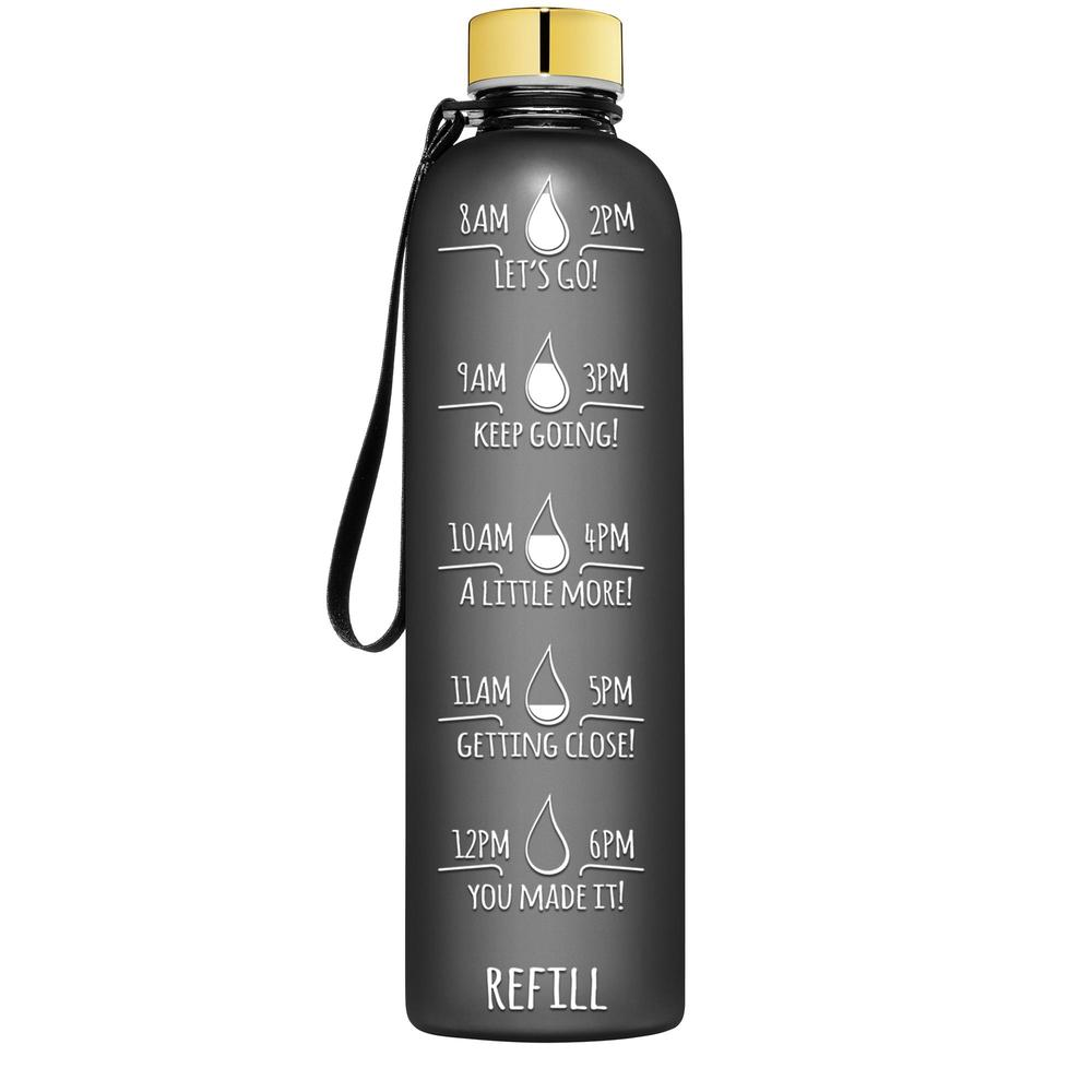 32oz Plastic BPA Free Sport Water Bottle with Times