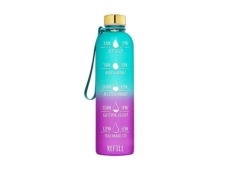 32oz Large Motivational Time Marker Fast Flow Sport Eco Friendly Motivated Water Bottle With Custom Logo