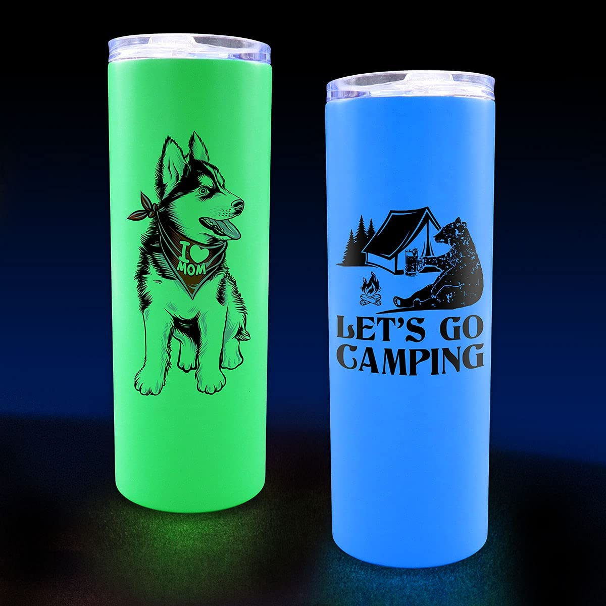 20oz Straight GLOW in the Dark Sublimation Tumbler